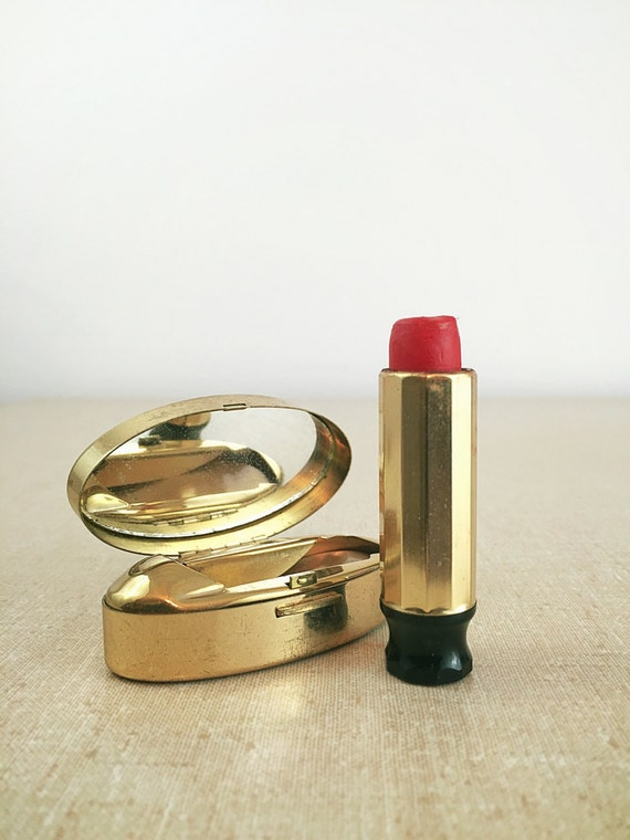 Items Similar To Vintage Lipstick Compact Mirror, Max