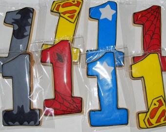 numbers  superhero cookies