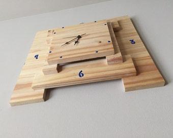 Layered Wooden Clock