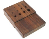 Rosewood Draw Plate With Holes 1.2mm-6.5mm - 12-120