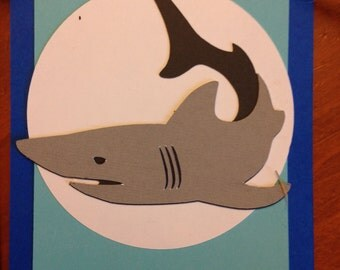 Shark Boys Birthday Party, Custom Happy Birthday Banner, Blue & Turquoise
