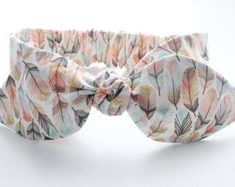 Baby headband, infant headband, adult headband - Feathers in the wind