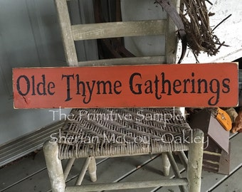 """6""""x30"""" Olde Thyme Gathering Sign"""