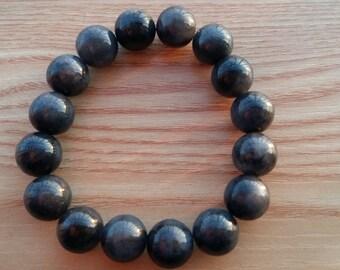 free delivery--AAA grade natural jade bead bracelet, noble black jade bracelet, good luck Mexican Green Bracelet