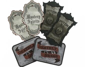 Martha Stewart Crafts Wine Labels, Gothic Manor Halloween