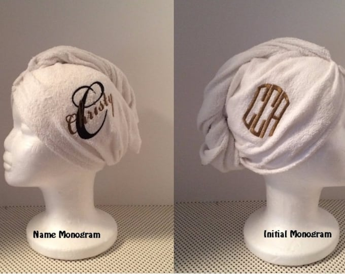 Twist Hair Turban Towel - Personalized - Wedding Hair towel, Swim Club Hair towel, Gym Hair towel, Shower Hair towel,