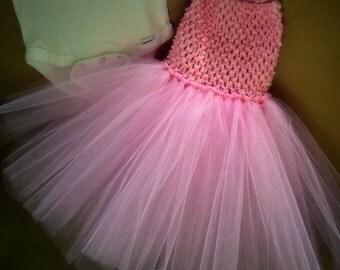 Newborn/Infant crochet top tutu