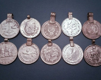 """10 Large 1"""" Kuchi Belly Dance Coins With Loops"""