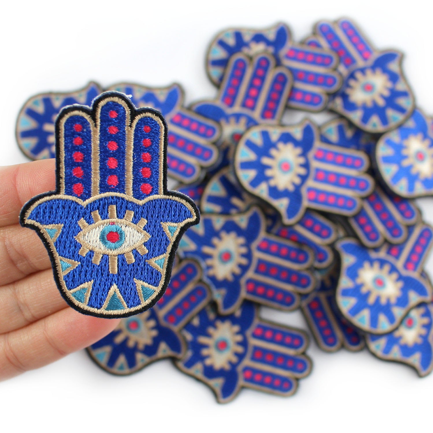 Hamsa Patch Iron On Patch Embroidered Applique Evil Eye
