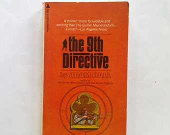 The Ninth Directive by Adam Hall Vintage Book