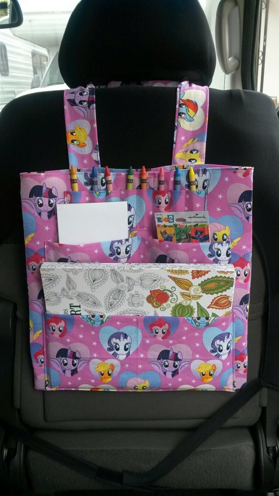SALE Pink My Little Pony Hanging Car Toy Organizer Tote Lil
