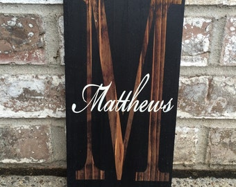 Monogram Wood Sign, Personalized Signs, Signs, Wedding, Anniversary Gift,  Home Decor, Wooden House Signs, Rustic Decor, Wood Signs, Gifts