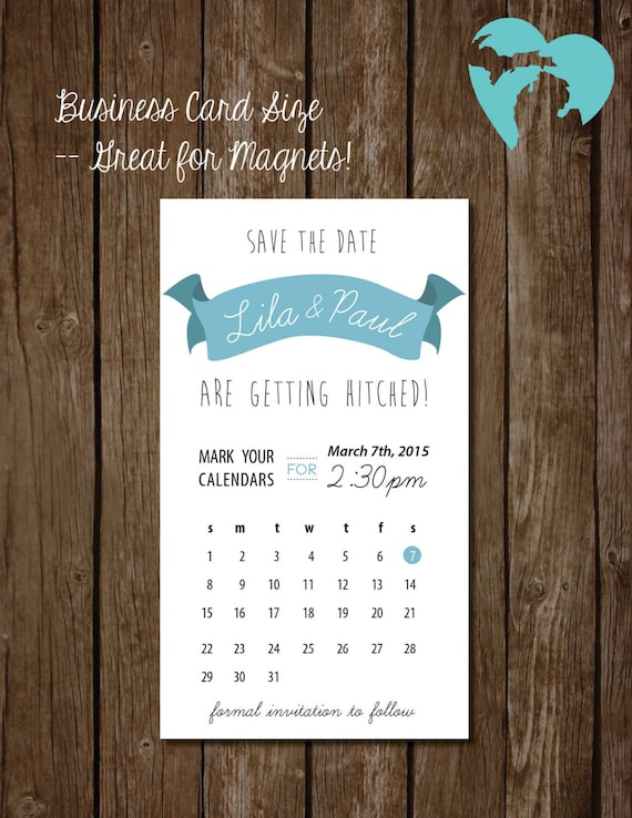 """Printable Save the Date -  DIY Wedding - """"The Lila"""""""