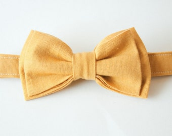 Golden Rod Mustard Bow Tie – You Choose Size