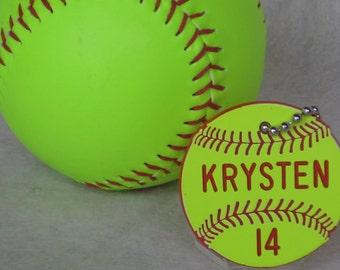 Personalized Softball Gifts / Softball Bag Tags / Softball Coaches Gifts / Fastpitch Softball Gifts / Softball Team Gifts