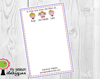 Mommy Pad, Face Notepad, Mommy Notepad, From the Mom of Notepad, To Do List, School Notes