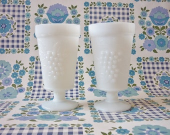 Vintage Milk Glass Goblets