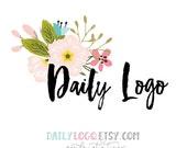Daily Logo Design pre-made logo design watercolor logo vintage logo typographic logo boutique logo website logo blog logo business logo