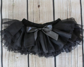 Baby Tutu Skirt, Black Tutu Skirt, Baby Tutu Bloomers, Black Diaper Cover, Baby Tutu, Baby Bloomers, Diaper Covers, Newborn Bloomers, 2121