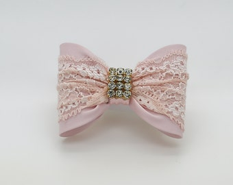 Light Pink Baby Bow, Baby Hair Clip, Light Pink Bow Hair Clip, Pink Hair Clip, Toddler Hair Clip, Girls Bow Hair Clip, Bow Hair Clip, 946