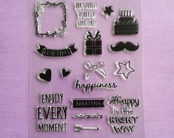 "Stamp set ""Happiness"""