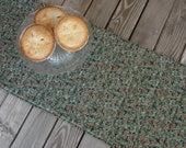 Christmas holly table runner, quilted fabric table runner, handmade table runner, sideboard runner, holiday decor, table decor, 73 inches