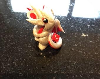 Pearl Red Mini Dragon Guardian