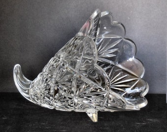 Waterford Large Lead Crystal Cornucopia