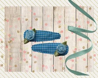 Barrette nursery-pane, light blue