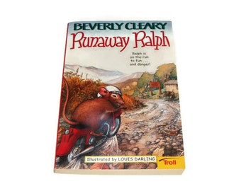 Runaway Ralph by Beverly Cleary Paperback Childrens Kids Book - Illustrated by Louis Darling