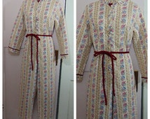 Vintage Granny Jammies / Adult Onesie Pajamas / Women's Small