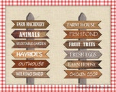 Farm Birthday Party / Country / Western / Printable Wooden Arrow Signs / Farm Photo Props / Party Decors / PDF Digital / Instant Download