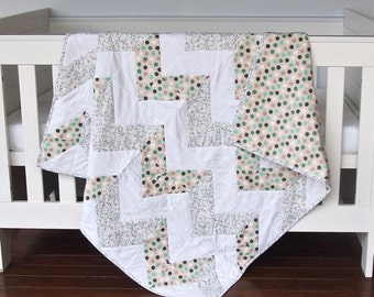 Baby Quilt - Cot Quilt - Baby Bedding - Nursery Bedding - Nursery Decor - Baby Shower