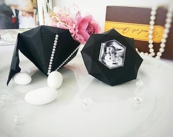 Paper wedding boxes.Diamond favor boxes.weddings favor boxes.candy boxes.Black dimanond favor boxes.wedding boxes.
