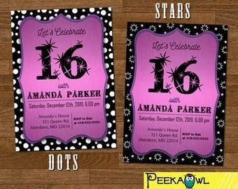 Printable Sweet 16 invitation - Sweet sixteen invitations - Sweet sixteen party - 16th birthday invitation card - Sweet 16 invitation card!