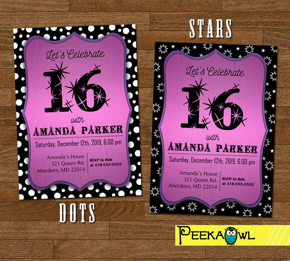 16Th Birthday Invitation is adorable invitation layout