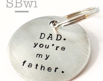 Dad keychain in heavy gauge aluminum