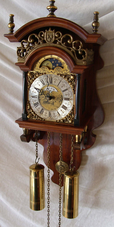 Old Dutch Friesian Sallander Wall Clock Warmink Stoelklok
