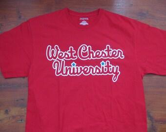 West Chester University WCU Rams T-shirt Phillies Adult Medium