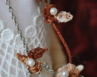 BJD, hook and chain, Brown necklace