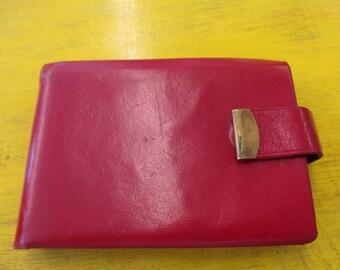 Vintage Red Leather Princess Gardner Women's Wallet