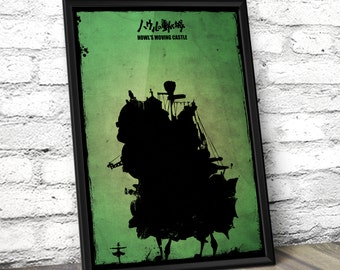 Howl's Moving Castle Poster - Studio Ghibli Hayao Miyazaki Inspired Poster - A3 Decor Print