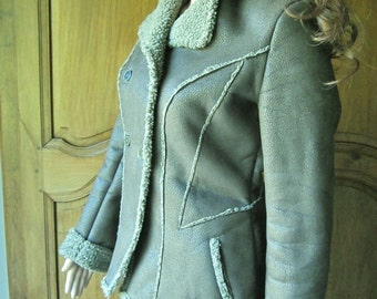 French Jacket,Vaal, vintage style, aspect distressed leather