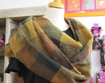 scarf printed and woven devour wool, Wivine, single model