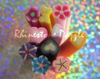 10pc Mix Polymer Clay Canes, nail design, nailart, nail decoration, 3D nailart, fimo clay cane, polymer clay cane mix bundle grab bag #1