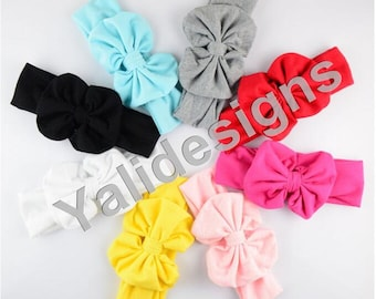 U Pick 6cm( 2.4'' inch) 1pcs/lot Cotton Baby Headbands Handmade Big Bow Headband DIY Accessory-YTK18