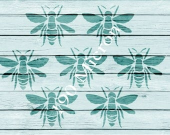 Re-usable Mylar Stencil BEES, Furniture, Fabric, French, Vintage, Shabby Chic