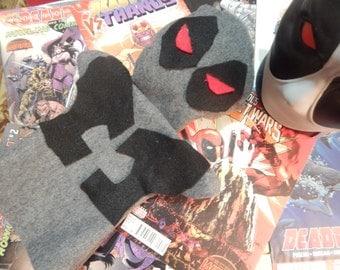 Handmade Marvel Deadpool Uncanny X-Force Inspired Plush Puppet ***Hand Made To Order