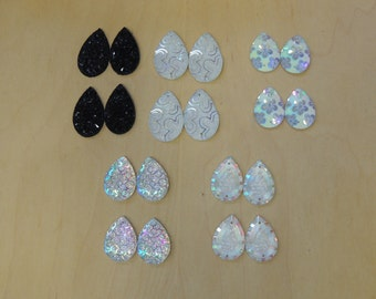 Mix tear-drop shape sew-on gem lot