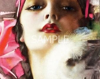 Digital Download File *Vintage Lady* 13-1550
